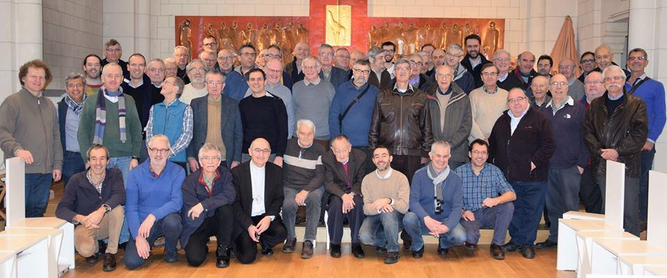 Rencontre de prêtres de la Mission de France en janvier 2018